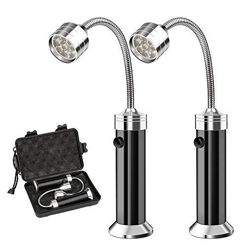 Vegena LED Grill Licht [2 Stück], Magnetische Grill BBQ Licht Set Flexibel Grill Lampen Outdoor Grill Lichter Grillen Zubehör Schwarz