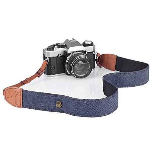 TARION Correa de cámara DSLR Ajustable Correa para el Cuello de la cámara Cinturón Retro Film Camera Correa de Hombro Vintage Soft Cuerda Larga Universal