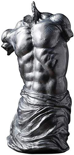 ZWJWJ Escultura Busto Estampado Adornos de Moda Busto de Hombre Escultura Adornos de Moda Sala de Estar Dormitorio Estudio Tienda de Ropa Exquisito 17 * 13 * 31 cm