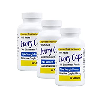 3 Pack  Ivory Caps **Best Value**- Maximum Potency Glutathione 1500 Skin Whitening  Complex **Sale REG $129.99 - Now $79.99- Free Shipping
