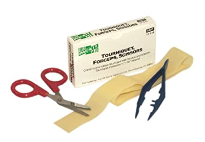 Pac-Kit 17-014 Tourniquet, Forceps, and Scissors Kit by Pac-Kit