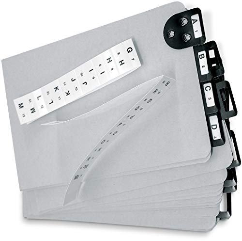 Martin Yale 14254 Posting Tray Index Set, 25 Press-Board Dividers for 6