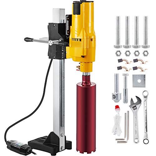 Happybuy 8 Inch/205MM Diamond Core Drilling Machine 3980W Diamond Core Drill Rig with Stand and Drill Bits,Wet Dry Core Drill Rig for Diamond Concrete Drilling Boring (Drill Bit Diameter: 4.25