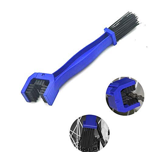 QIKU Spazzola per Pulizia Bici, Kit Pulizia Catena Bici/Moto Professionale, manovella/Pneumatico/pignone, Usato per Pulire Le Curve della Bicicletta, Semplice e conveniente (Blu 2)