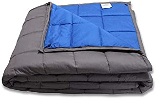 """CMFRT Weighted Blanket -   Fits Queen-Sized Bed Top (60""""x80"""" – 16 lb)   Get Quality Rest   100% Soft Breathable Cotton   (Perfect for 150 lb individual)"""