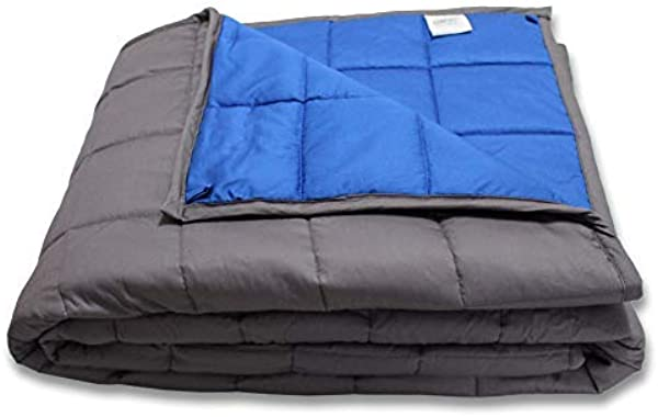 CMFRT Weighted Blanket For Kids 100 Soft Breathable Cotton 41 X56 7 Lb Get Quality Rest One Piece Design Perfect For 60 Lb Individual
