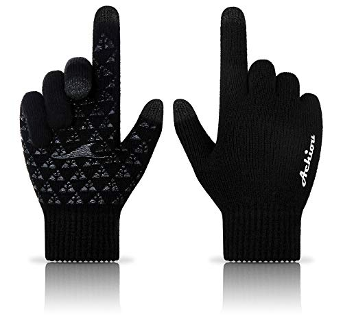 Achiou Touchscreen Knit Gloves Winter Warm for Women Men Wool Lined Texting...