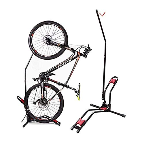 CHENJIU Bike Rack Upright Bike Storage Stand Adjustable Bicycle Carrier,Front Wheel/Rear Wheel/Vertical Floor Parking Fits Nearly All Bikes