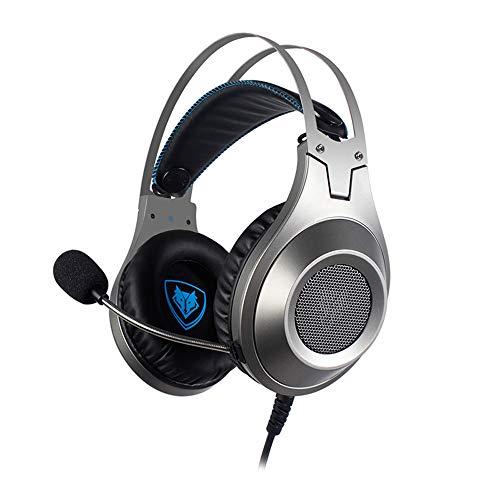 huichang Noise Cancelling Kopfhörer Leichte, HD Stereo Verlustfreier Sound Sport Kopfhörer, NUBWO N2 Gaming Kopfhörer mit Mikrofon Kopfhörer für PC / PS4 / Laptop