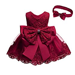 Wine Red Color Tutu Dress With Rhinestones for Baby
