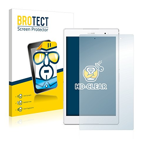 BROTECT Schutzfolie kompatibel mit Sony Xperia Z3 Tablet Compact SGP641 (2 Stück) klare Bildschirmschutz-Folie