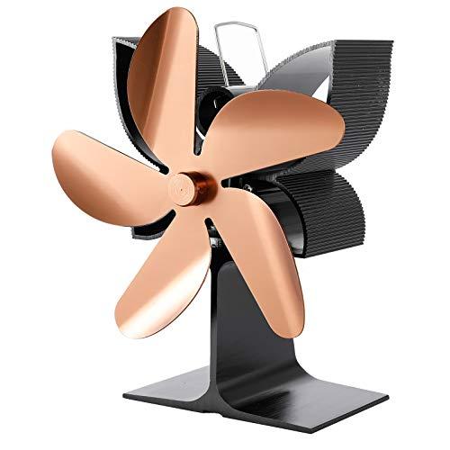 SF901G Wärmebetriebener Ofenventilator mit 5 Flügeln, für Holzöfen, Brennstoff, energiesparend, leise, Ecofan, effizient, wärmebetriebener Ofenventilator, 5 Flügel, Holzofen, Kamin-Ventilator