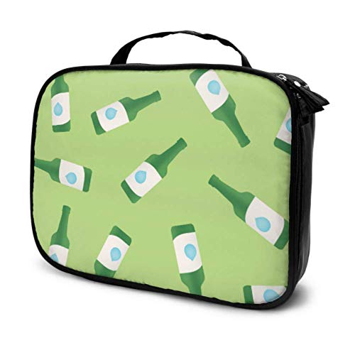 Creative Fashion Retro Cute Bottle Travel Cosmetic Storage Bag Cute Cosmetic Bag Funny Makeup Bag Multifunction Printed Pouch for Women
