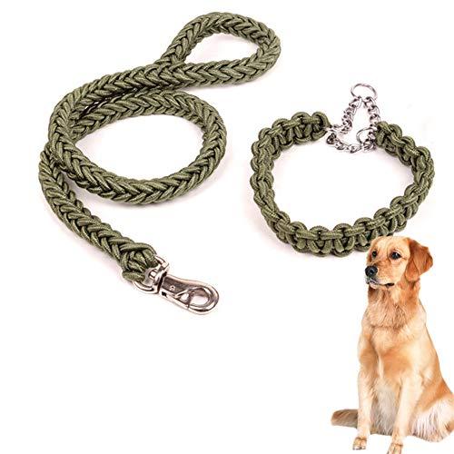 OUTANG Hundeleine Große Hunde Hundeleine Kleine Hund Hund führt Rutschseil Hund führt stark Leine für große Hunde Hundeleine für kleine Hunde Green,M
