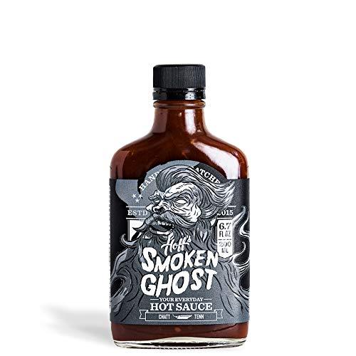 Smoken Ghost - Hoff's Smoky Handmade Ghost Pepper Sauce - 6.7 oz Flask