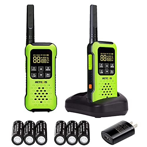 Retevis RT49P IP67 Waterproof Walkie Talkies,Floating Two Way Radio for Adults,NOAA Weather Alert SOS Flashlight,Long Range Rechargeable 2 Way Radios for Kayak Fishing Boating (2 Pack)
