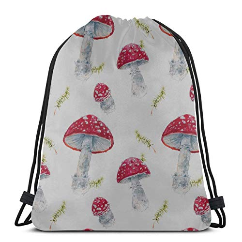 AEMAPE Nutrition Create Vegetables Mushroom Dry Bag Drawstring Bags Drawstring Backpacks Drawstring Cosmetic Bags For Gym Outdoor Travel