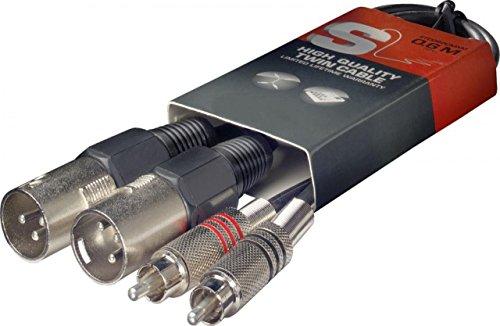 Stagg - Cable de audio patch (60 cm, 2 conectores macho XLR a 2...