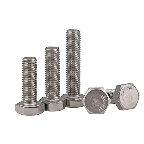 M3-M12 External Hex Head Screws DIN933 316 Marine Stainless Steel Full Thread Hexagon Bolts Length 8mm-200mm