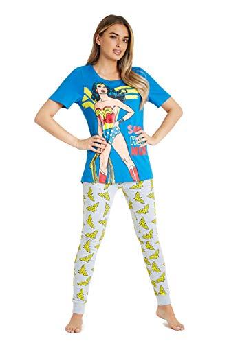 Official Adults Wonder Woman Pyjama Set, Sizes 8 to 18