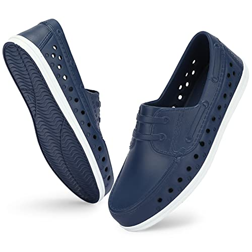ANLUKE Water Sandals for Kids Boys Quick Dry Slip on Sandals Lightweight Summer Water Beach pool shoes for boys Navy-13
