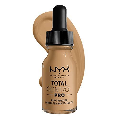 NYX Professional Makeup Base de maquillaje líquida Total Control Pro Drop, Dosificación precisa, Cobertura modulable y personalizable, Fórmula vegana, Acabado natural, 13 ml, Tono: 11 Beige