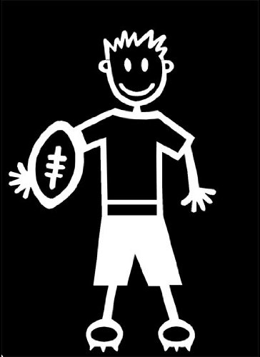 My Stick Figure Family Familie Autoaufkleber Aufkleber Decal älterer Junge Rugby TM5