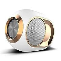 QCSMegy スピーカー ハイエンドワイヤレススピーカー、低音金の卵のBluetoothスピーカー、ミニウルトラポータブル防水Bluetoothワイヤレスステレオスピーカー-108Dbポータブル屋外ワイヤレススピーカー (Color : White)