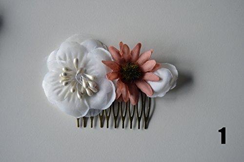 Tocado peina de flores, niña comunión