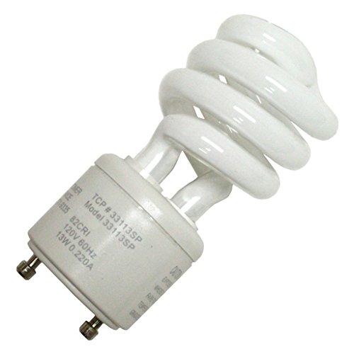 (Case of 6) TCP 33113sp Springlamp CFL - 60 Watt Equivalent (13-watt Used) Soft White (2700-kelvin) Gu24 Base Spiral Light Bulb