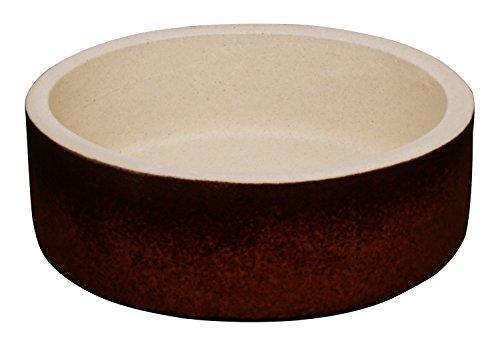 K&K Bonsaischale/Bac à fleurs Marron 15 x 5 cm (Volume : 500 ml) Convient pour l'extérieur non lasé en céramique lourde (garantie 5 ans)