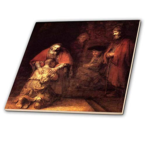 3dRose Florene – Famous Art – Print of Rembrandt Painting The Prodigal Son – Piastrelle
