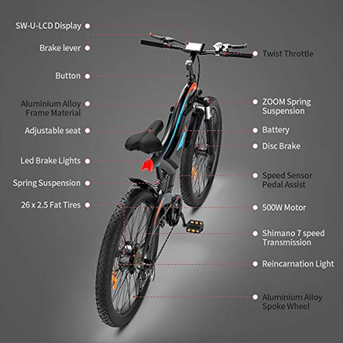 41kd63qw dL. SL500 A Selection of Top 500w Electric Bike Options