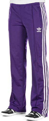 adidas Damen Trainingshose Firebird, eggplant/metallic silver, 34, O57508