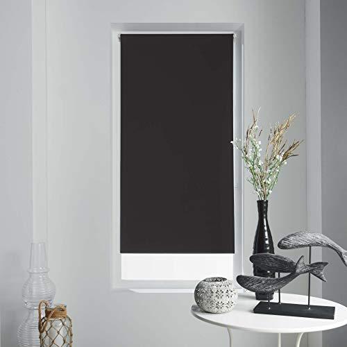 Coton d'intérieur 1950050 Enrouler Occultant, Polyester, Noir, 45 x 180 CM