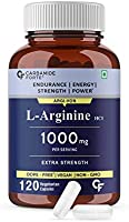 Carbamide Forte L Arginine 1000mg Supplement Per Serving – 120 Veg Capsules