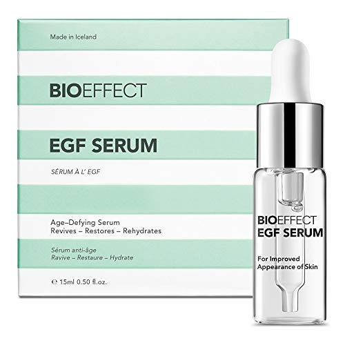 BIOEFFECT EGF Serum With Hyaluronic Acid, Enhance Skin With Collagen Boosting, Moisturizing, Anti-Aging Treatment For Face And Neck, Day And Night, Best Microneedling And Derma Roller Facial Serum