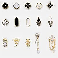 WZHrb 15ピース合金ネイルチャームラインストーンアートダイヤモンド宝石マニキュアスタッド