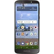 "Moto E5 (2018) 16GB, 2GB 5.7"" Display, 4000 mAh All Day Battery, FM Radio - (GSM+AT&T+Tmobile + Verizon) Factory Unlocked 4G LTE Smartphone - XT1920DL (US Warranty) (Gray) Front Screen Display"