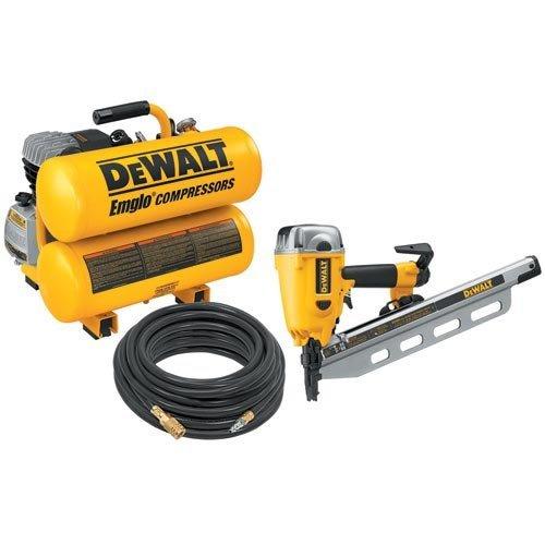 DEWALT D55153FR Round Head Framing Nailer Compressor Combo...