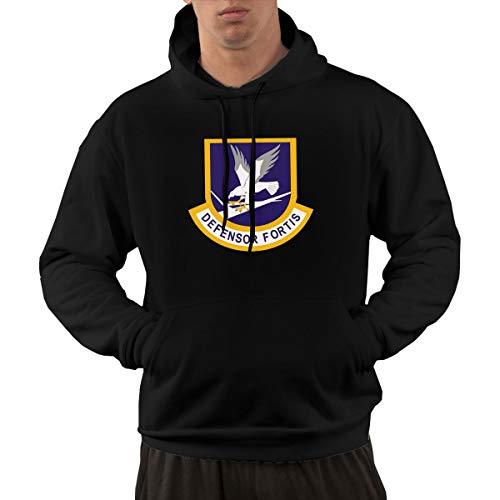 BSUUJCGF Defensor Fortis Air Force Security Force Men's Soft Comfortable Campaign Hoodie Sweatshirt Black