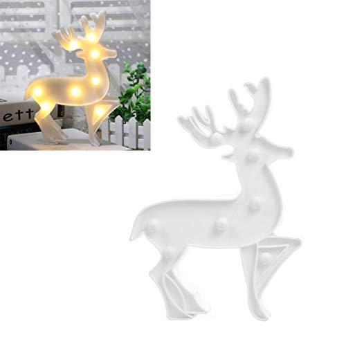 Mobestech Navidad Elk Marquee Christmas Reindeer Lights Cartoon LED Sign Light Fairy Table Lamp para Living Room...