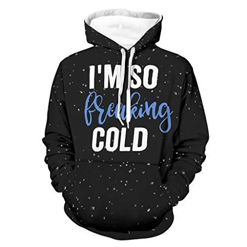 Ouniaodao Hombres I am Freaking Cold Hoodies Hip-Hop - Funny Sarcasm Cozy Uniform blanco 2xl
