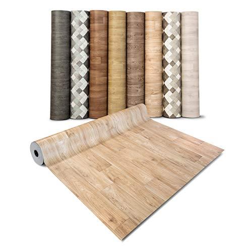 casa pura® CV Bodenbelag Antique Oak - extra abriebfester PVC Bodenbelag (geschäumt) - Eiche Antik - edle Holzoptik - Oberfläche strukturiert - Meterware (200x200 cm)