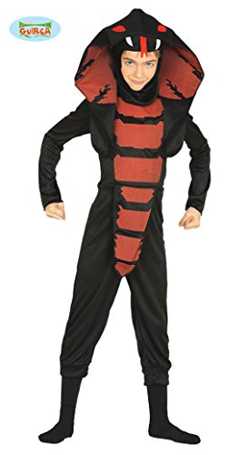 Cobra Ninja Kostüm für Kinder Gr. 98 - 146, Größe:110/116