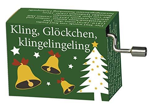 Fridolin Spieluhr Minidrehorgel Kling, Glöckchen, klingelingeling Weihnachtslied