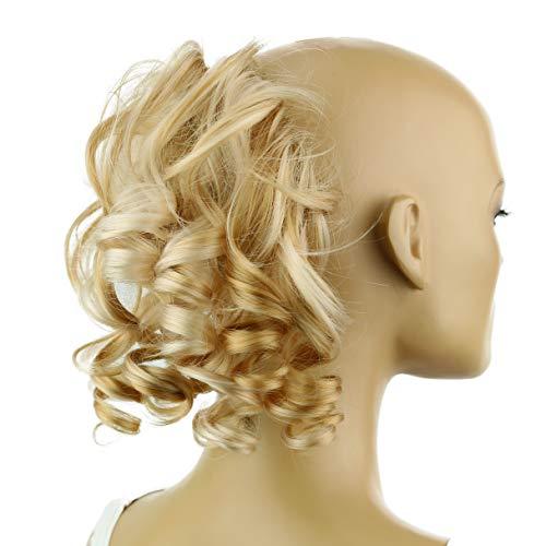 PRETTYSHOP Haarteil Haargummi Hochsteckfrisuren Brautfrisuren Voluminös Gelockt Unordentlich Dutt Blond Mix G7L