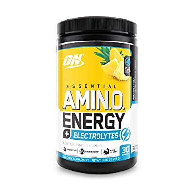 Optimum Nutrition Amino Energy + Electrolytes - Pre Workout, BCAAs, Amino Acids, Keto Friendly, Energy Powder - Pineapple Twist, 30 Servings