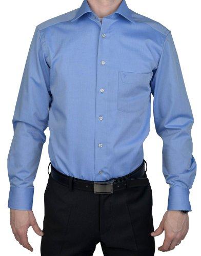 Marvelis Modern Fit Hemd Chambray blau, Mittelblau, 44
