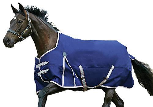 "Weatherbeeta Comfitec Essential Standard Neck Blanket Lite Navy/Silver/Red 75"""